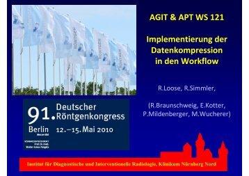 AGIT & APT WS 121 Implementierung der Datenkompression in den ...