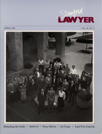 Spring 1984 – Issue 31 - Stanford Lawyer - Stanford University