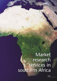 Market research services in southern Africa - samra