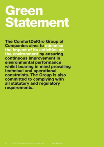 The ComfortDelGro Group of Companies aims to minimise the ...