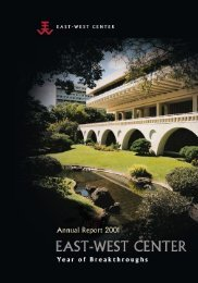 East-West Center Annual Report 2001