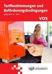 Tarif und Beförderungsbestimmungen 2013.indd - Willy Hummert ...