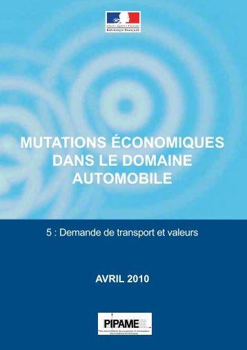 Demande de transport et valeurs - Dgcis