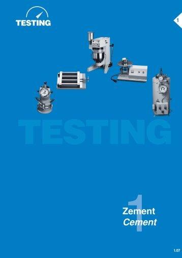 Zement Cement - Testing Equipment for Construction Materials