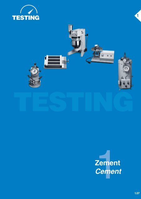Zement Cement - Testing Equipment for Construction Materials