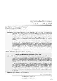 Leiomioma gástrico versus Duplicación: caso clínico - Sociedad de ...