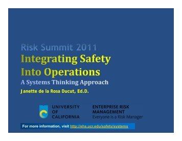 Presentation - Environmental Health & Safety