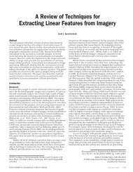 A Review of Techniques for Extracting Linear Features from ... - asprs