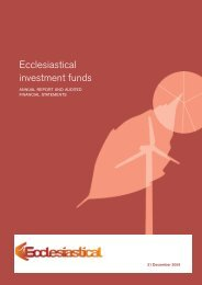 Ecclesiastical Investment Funds annual report and accounts - long ...