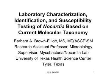 Laboratory Characterization, Identification, and ... - SWACM