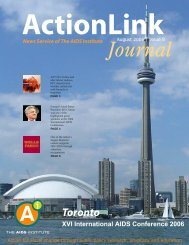 August 2006 Issue of ActionLink - The AIDS Institute