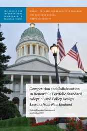 Competition and Collaboration in Renewable Portfolio Standard ...