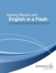 Getting Results with English in a Flash - Renaissance Learning