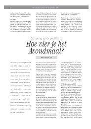 Bezinning 1: Hoe vier je het Avondmaal? (pdf - Smouter.net