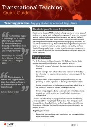 Teaching practice - Engaging students in lectures & large classes