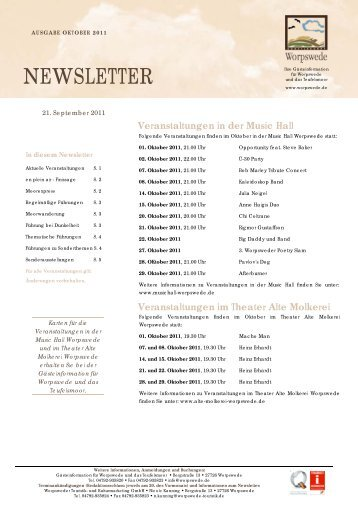 Newsletter Oktober 2011 - Worpswede