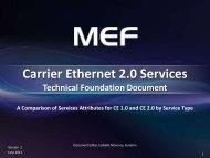 Carrier Ethernet 2.0 Services Technical Foundation Document - MEF