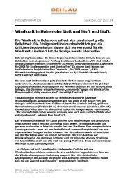 Windkraft in Hohenlohe läuft und läuft und läuft