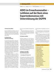 ADHS im Erwachsenenalter – Leitlinien auf der Basis eines ...