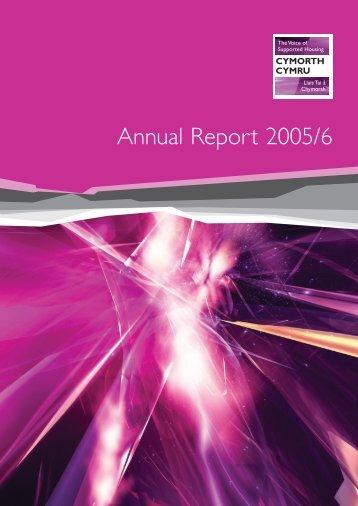 Annual Report 2005/6 - Cymorth Cymru