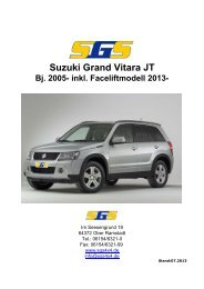 Grand Vitara Typ JT ab Bj. 2005 - SGS