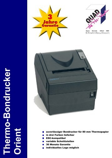 Thermo-Bondrucker Orient - Quadgmbh.de