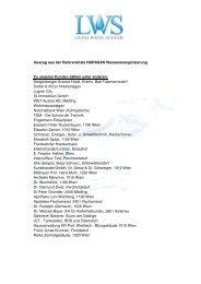 Auszug aus unserer Referenzliste
