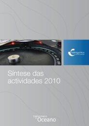 Síntese das actividades 2010 - Instituto Hidrográfico