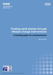 Treating adult obesity through lifestyle change interventions
