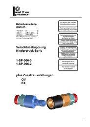Niederdruck-Kupplung, Type SP-00, Rev-C - Carl Kurt Walther ...