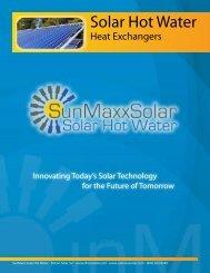 Solar Hot Water Heat Exchanger Basics - SunMaxx Solar