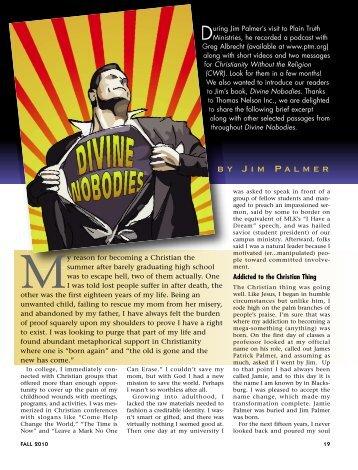 19-23 Divine Nobodies Excerpt :Master Galley - Plain Truth Ministries