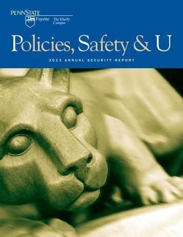 2013 Annual Security Report (pdf) - University Police - Penn State ...