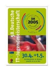 58. Nationale Deutsche Jugendmeisterschaften am 30. April ... - TTVR