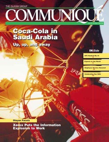 Coca-Cola in Saudi Arabia Coca-Cola in Saudi Arabia - Olayan Group
