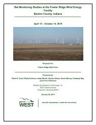 Fowler Ridge 2010 Study Results - Bats and Wind Energy Cooperative