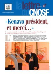 La lettre n°9 - Comité National Olympique et Sportif Français