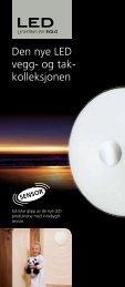 Den nye LED vegg- og tak- kolleksjonen - Elektro Armatur
