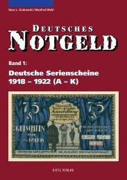 Deutsche Serienscheine 1918 – 1922 - Gietl Verlag