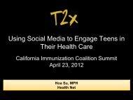 Hoa Su, Health Net - California Immunization Coalition