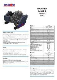 MARINER 1450T A 14.1 kVA 50 Hz - Yanmar
