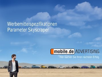 Parameter Skyscraper - mobile.de Advertising