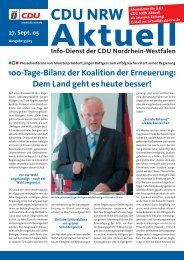 100-Tage-Bilanz der Koalition der Erneuerung - CDU-Lippramsdorf