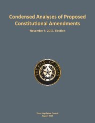 Condensed Analyses of Proposed Constitutional Amendments