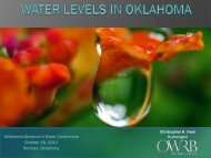 Water levels in Oklahoma