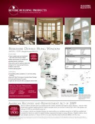 BERKSHIRE DOUBLE HUNG WINDOW - Home Doors & Windows