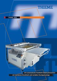 THIEME 3000 3/4-automatische Flachbett-Siebdruckmaschine mit ...