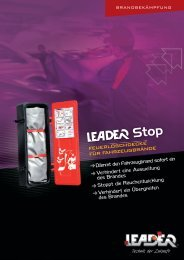 Broschüre Leader Stop Autolöschdecke