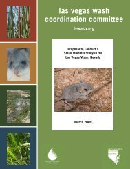 Proposal to Conduct a Small Mammal Study in the Las Vegas Wash ...