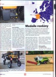 Reportáž z veletrhu v časopise Mechanizace zemědělství